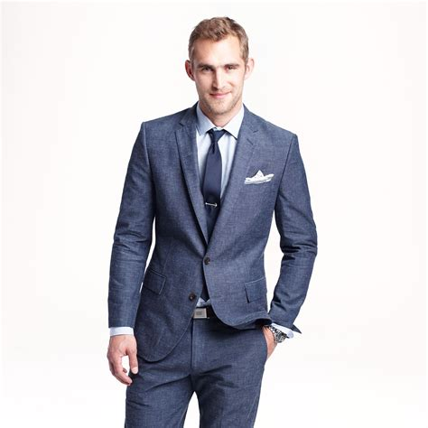 Japan Style Blazer 1 j crew ludlow suit jacket in japanese chambray in blue for chambray navy lyst