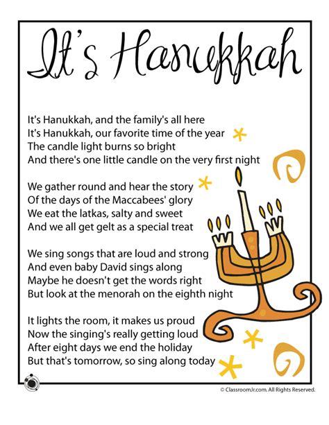 hanukkah kids poems woo jr kids activities