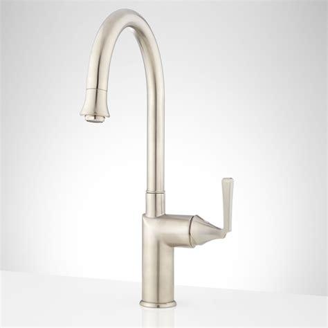 kitchen faucet single hole gooseneck single hole kitchen faucet signaturehardware com