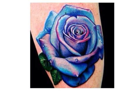 purple tattoo blue and purple rose tattoo tattoos pinterest