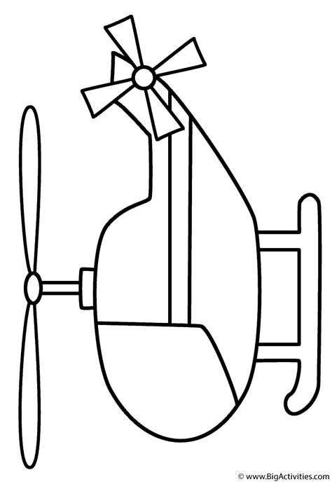 preschool helicopter coloring page helicopter coloring page transportation