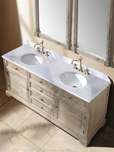 driftwood bathroom vanity 71 quot veroli double sink vanity driftwood transitional