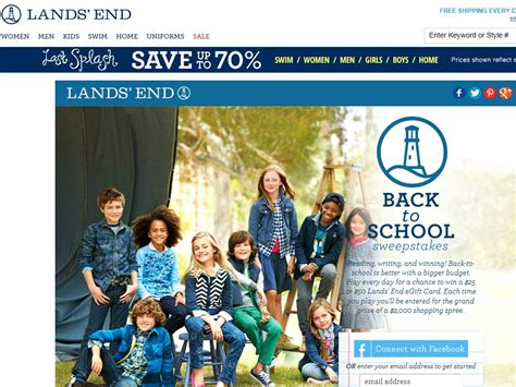 Lands End Sweepstakes - lands end back to school sweepstakes