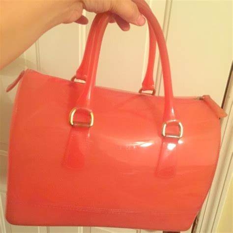 Furla Jelly Bag Preloved 51 furla handbags furla medium pink jelly bag 100 authentic from ȁmāŋďă s closet on poshmark
