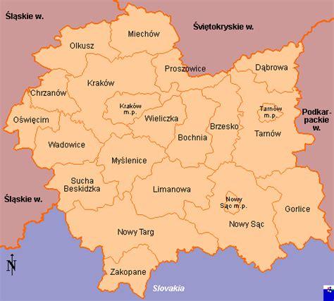 clickable map of w małopolskie poland