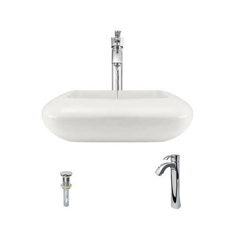 bisque kitchen faucet mr direct porcelain pillow top vessel sink in bisque with