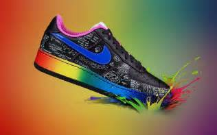 colorful nike colorful sport shoe nike wallpaper wallpaperlepi