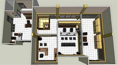layout rumah kantor yuk intip interior ruang kantor pln samboja jual beli