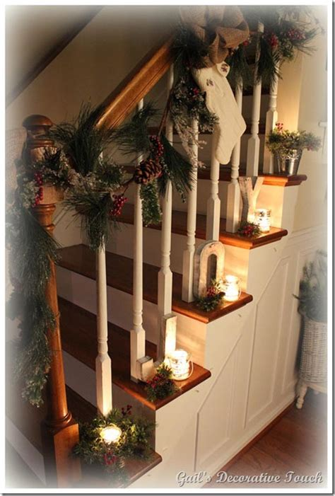 decoration for a banister 40 festive christmas banister decorations ideas all