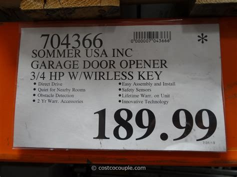 Sommer Garage Door Openers by Sommer Garage Door Opener Costco Wageuzi