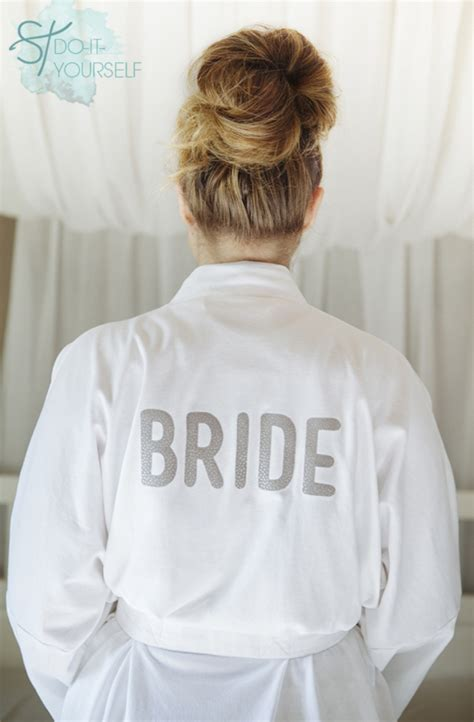 Bridal Robes by How To Make A Personalized Robe For Your Wedding Day