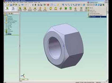 solidworks tutorial bolt re solidworks tutorial how to draw a nut youtube