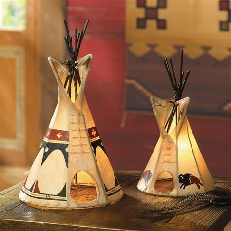Native American Indian Home Decor Teepee Lamp Crowsnesttrading Com For The Home