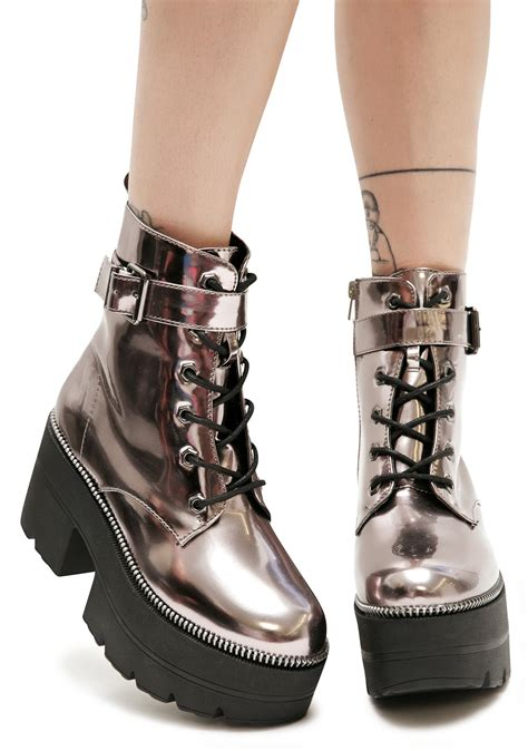 metallic regime platform boots dolls kill