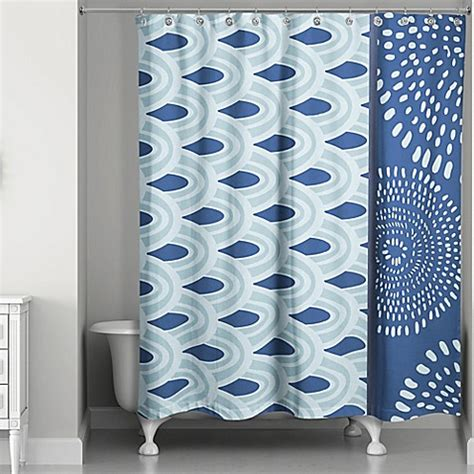 color block shower curtain tribal color block shower curtain in blue www