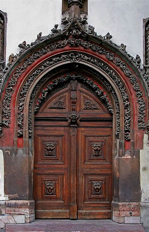 prague flowered gothic style doors unique doors