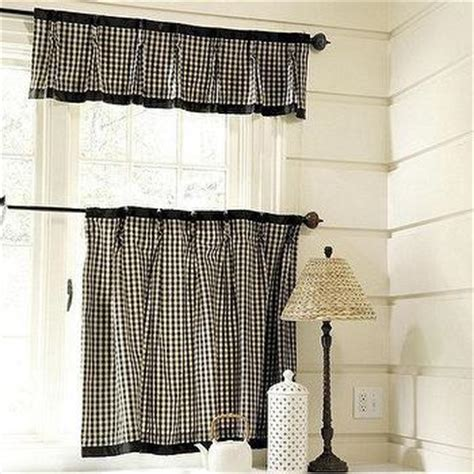 black and white cafe curtains french stripe cafe curtain pottery barn