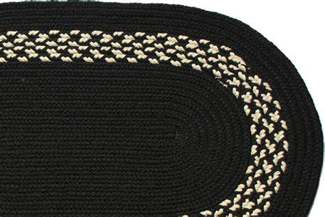 Black Braided Rugs by Black Black Band Braided Rug