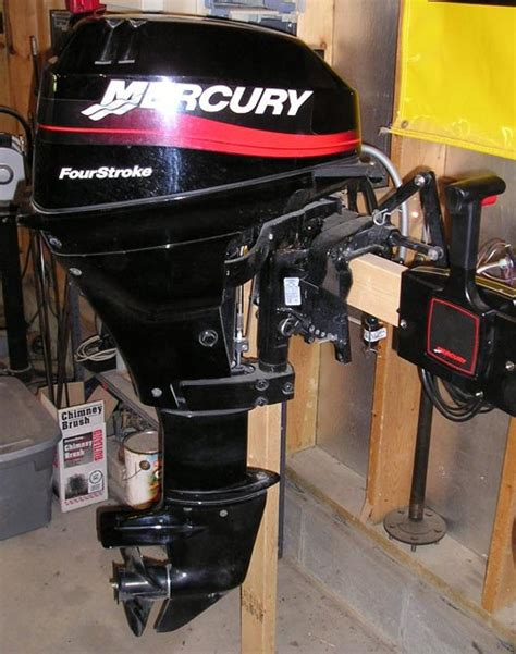 2002 Mercury 15 Hp 4 Stroke Remote For Sale 1895