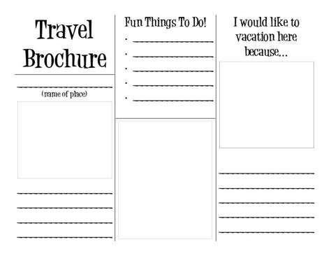 tourist brochure template travel brochure layers of learning social studies