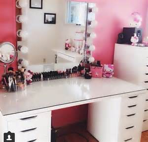 diy makeup vanity storage organization ideas