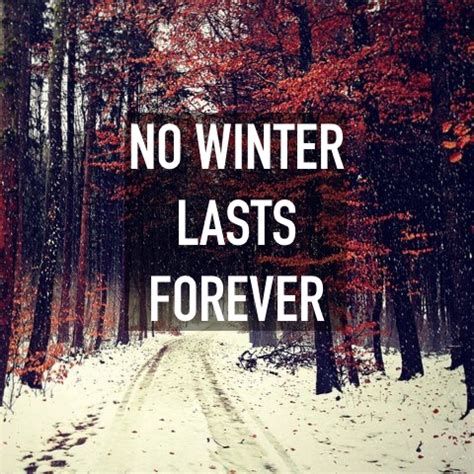 no lasts forever no winter lasts forever