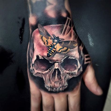 death head moth tattoo with skull s hawkmoth best