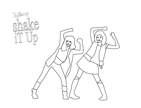 shake it up pages coloring pages