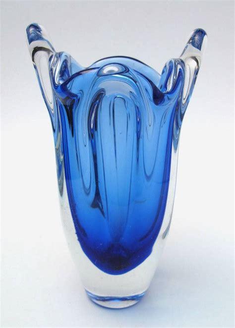 murano glass vase value vintage italian murano cobalt blue glass vase retro