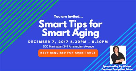 Smart Tips For Finding Experts by West Side Rag 187 Thursday Smart Tips For Smart Aging Seminar