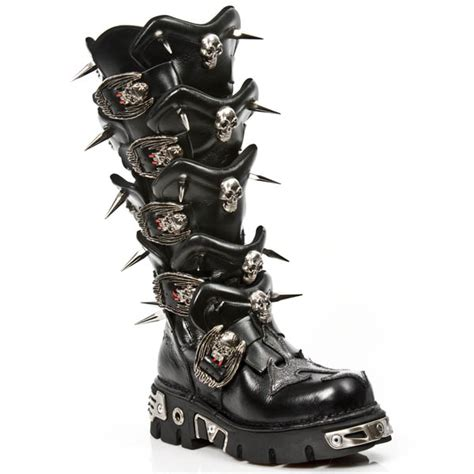 spiked mens boots m 755 c1 new rock spiked spine boots custom made