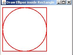 java swing draw circle draw ellipse in rectangle