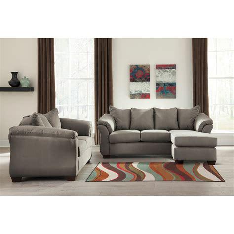 ashley darcy sofa chaise signature design by ashley darcy cobblestone stationary