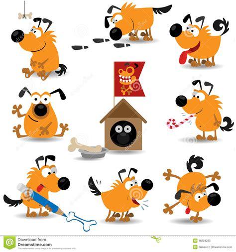 clipart divertenti cani divertenti set 2 illustrazione vettoriale