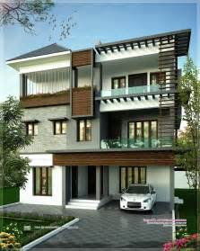 3 Floor House August 2013 Kerala Home Design And Floor Plans