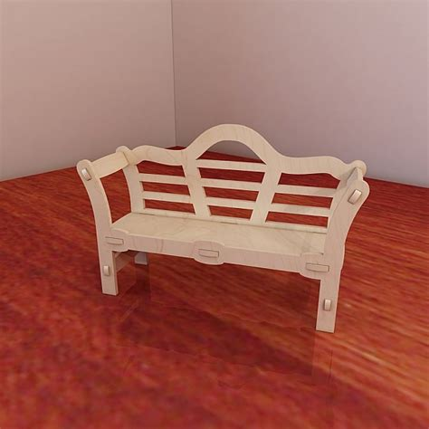 cnc bench great barbie doll s bench pattern vector model for cnc router a