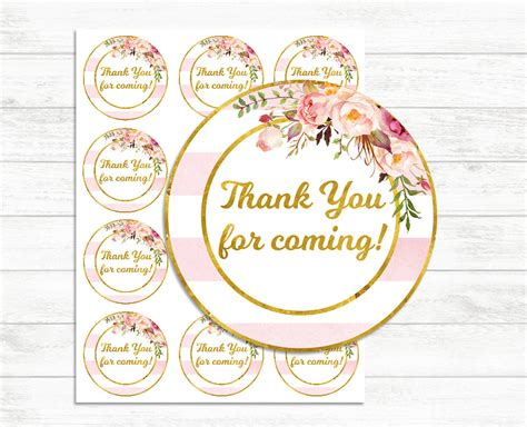 printable thank you cards walmart printable thank you tags pink and gold thank you for coming