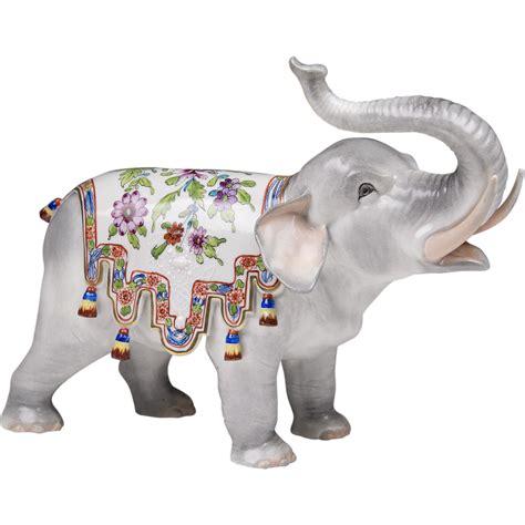 carl thieme dresden porcelain elephant from piatik on ruby