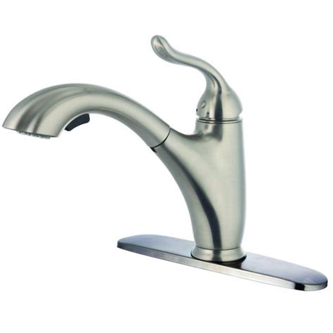 kitchen faucet with pull out sprayer yosemite kitchen faucet with pull out sprayer in brushed
