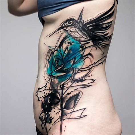 watercolor tattoo greece sketch style bird blue best design ideas