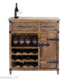 Wood Bar Cabinet Country Wine Cabinet Chest Rustic Wood Bar Furniture Free Ship