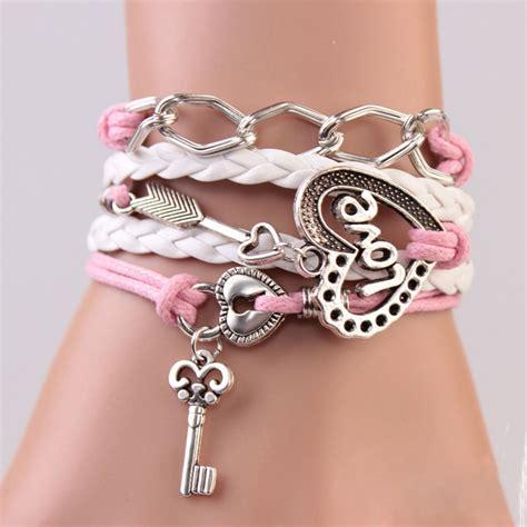 New Handmade Bracelets - tomtosh new handmade bracelet lock key cupid s arrow