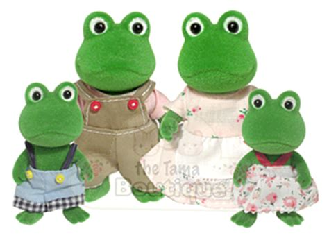 Family Frog Limited calico critters bullrush frog family