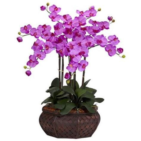 30 in h orchid large phalaenopsis silk flower arrangement