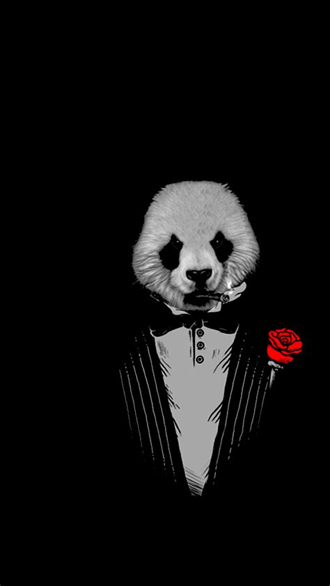 Panda As The Godfather Art, Full HD Wallpaper