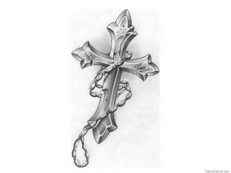 cross with a rosary tattoo free designs cross rosary design 5468429 171 top