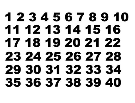 Window Decals Numbers by 1 40 Number Sets Vinyl Decals Set Of 40 Numbers