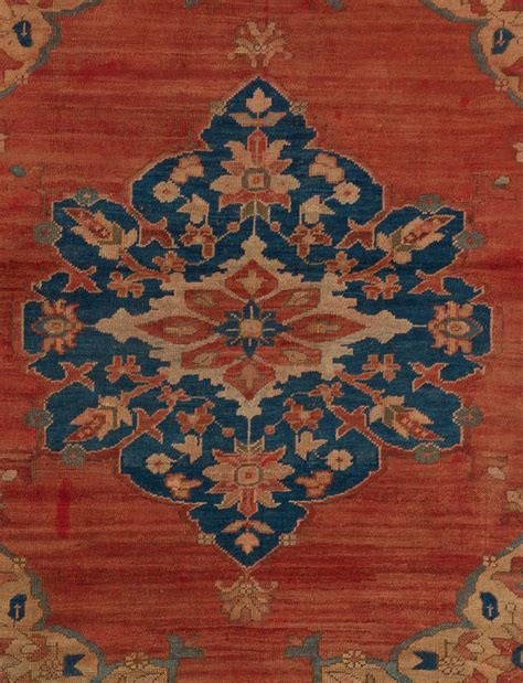 blue turkish rug antique turkish megri rug in terracotta and blue colors for sale at 1stdibs