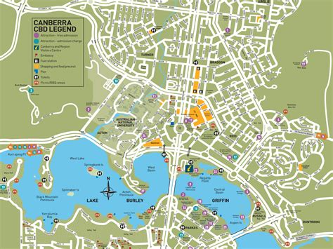map of city centre canberra city map visitcanberra