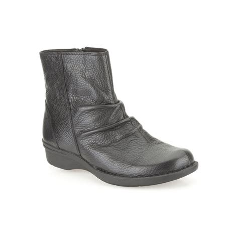 clarks money whistle women s ankle boot in black leather
